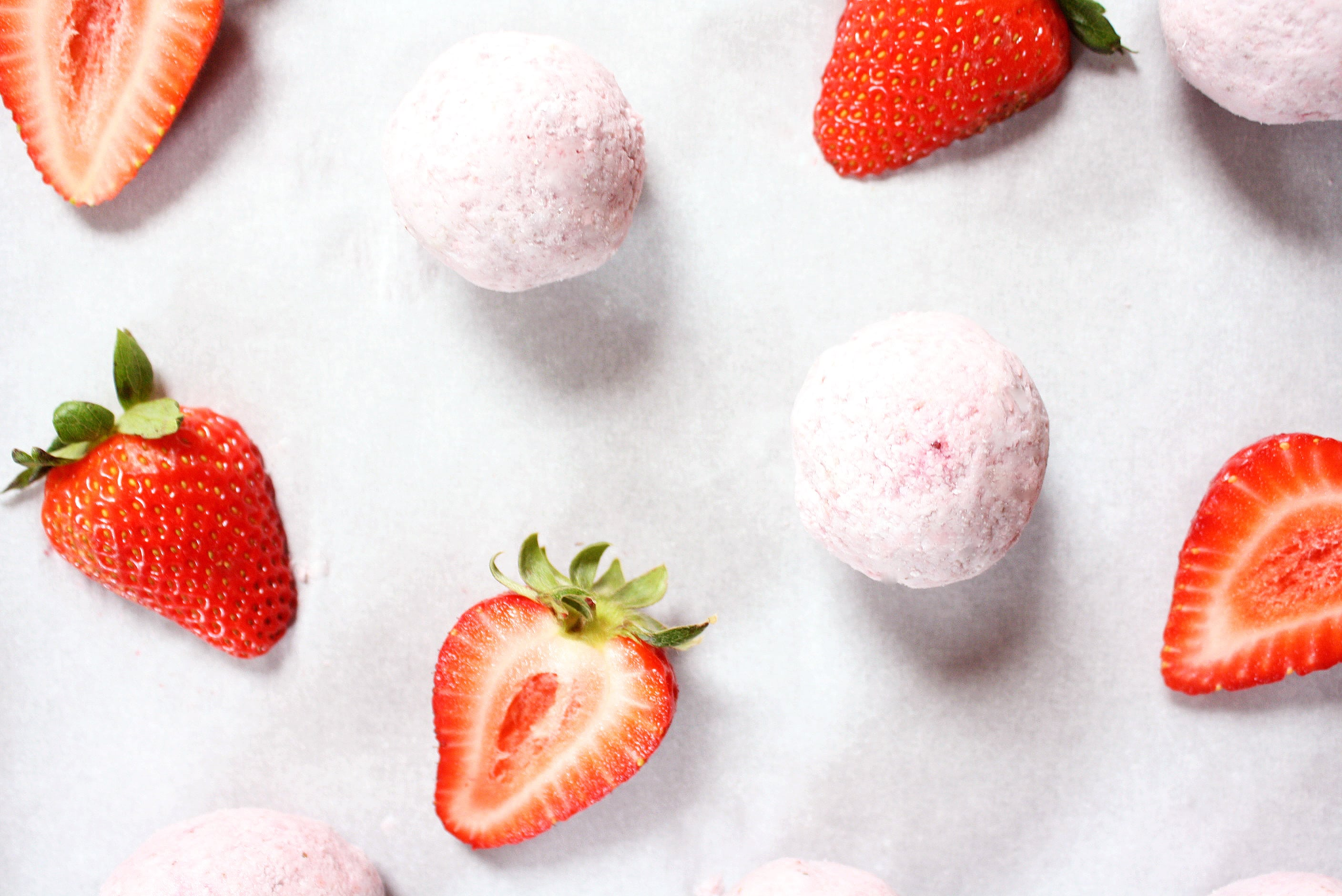strawberries and cream fat bombs