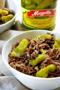 low-fodmap-pressure-cooker-italian-beef in a bowl