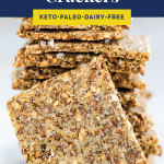 Low-Carb Crackers pinterest pin
