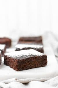 keto brownies close up featured image