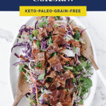 Keto Bacon Coleslaw pinterest pin