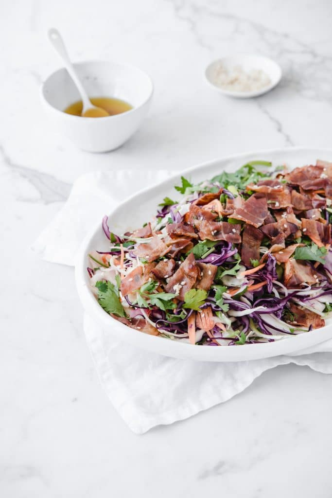 keto bacon salad with vinaigrette