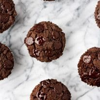 Low-Carb Triple Chocolate Zucchini Muffins