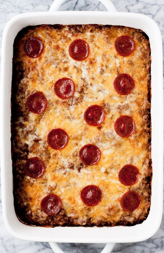 overhead-shot-of-baked-Low-Carb-Zucchini-Pizza-Casserole
