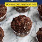 Low Carb Triple Chocolate Zucchini Muffins pinterest image