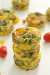 a stack of paleo breakfast muffins