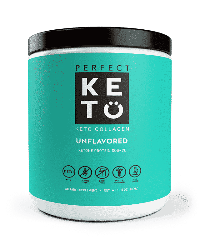 perfect keto unflavored keto collagen product photo