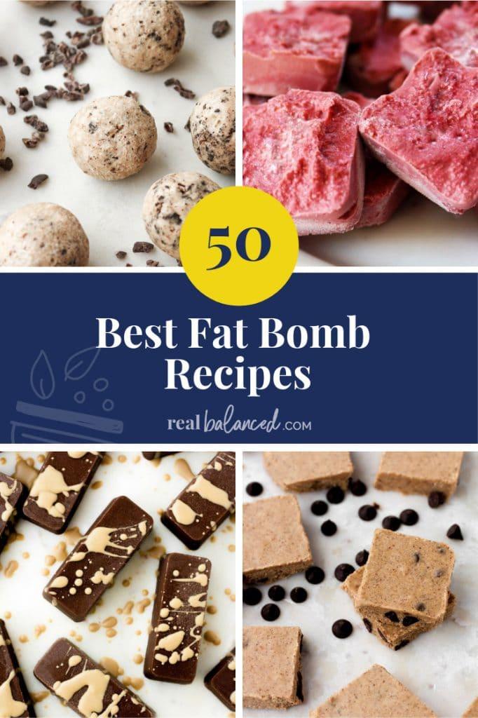 50 Best Fat Bomb Recipes pinterest pin image
