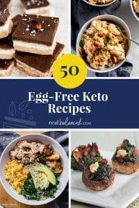 50 Egg-Free Keto Recipes pinterest image