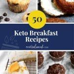 50 Keto Breakfast Recipes pinterest pin image