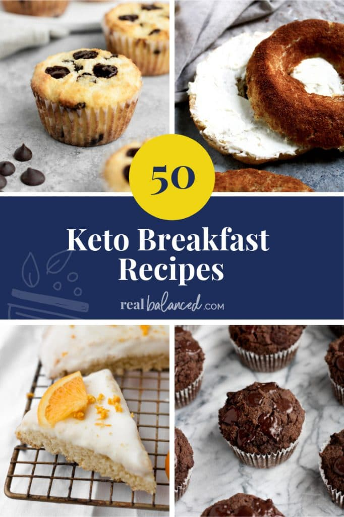 50 Keto Breakfast Recipes pinterest pin image