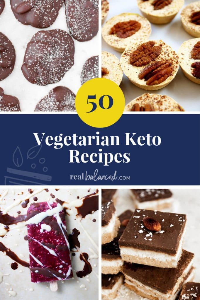 50 Vegetarian Keto Recipes pinterest pin image