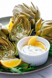 artichokes with herbed mayonnaise