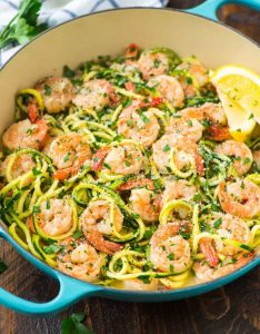 Egg-Free Keto Recipes: Healthy Shrimp Scampi with Zucchini Noodles