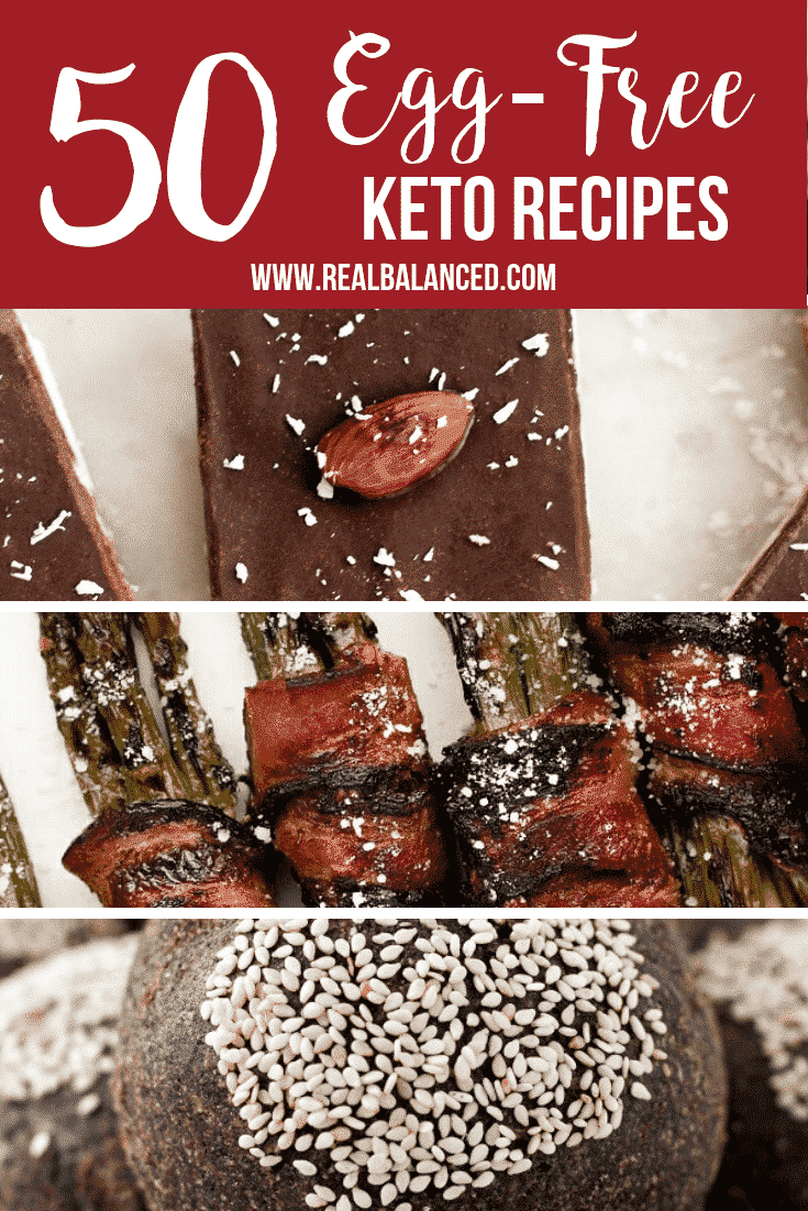 Try out these 50 egg free keto recipes. Whether you are looking for an egg free keto breakfast recipe or an eggless low carb recipes this round up has all the egg free recipes you need.
