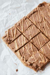 keto chocolate peanut butter bars
