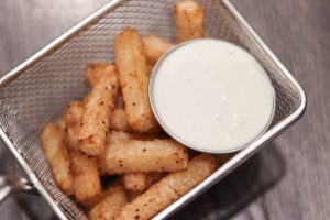 fried jicama with dip