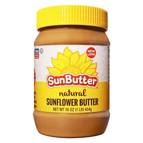 a jar of sunbutter natural sunflower butter