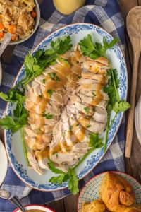 instant pot turkey breast with gravy and parsley