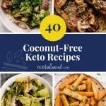 40 Coconut-Free Keto Recipes pinterest image