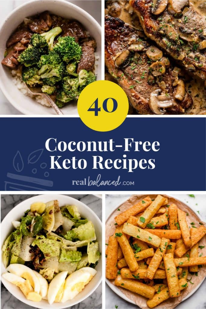 40 Coconut-Free Keto Recipes pinterest image