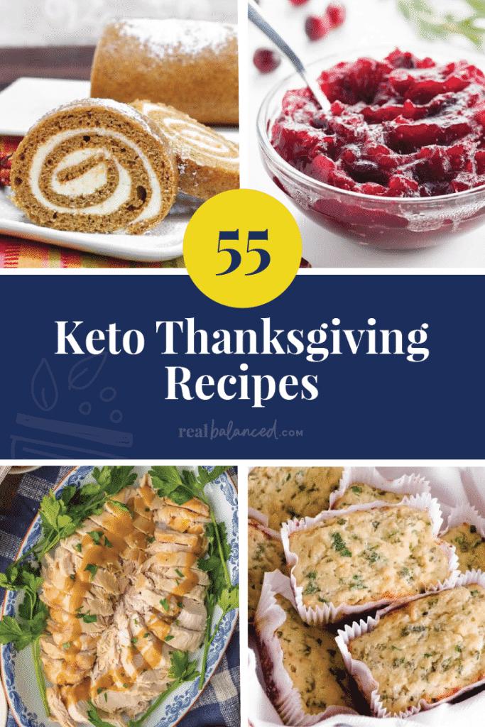 55 Keto Thanksgiving Recipes pinterest image