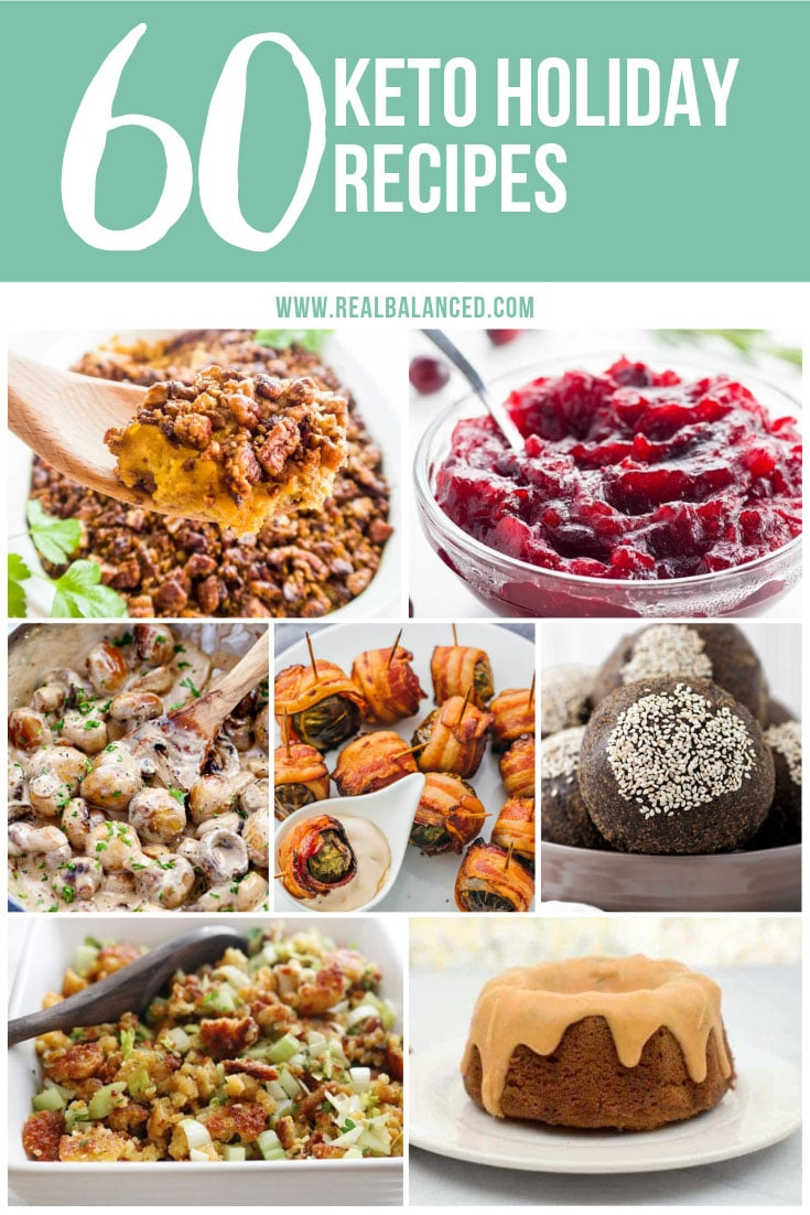 pinterest graphic 60 keto holiday recipes