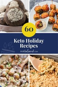 60 Keto Holiday Recipes pinterest image