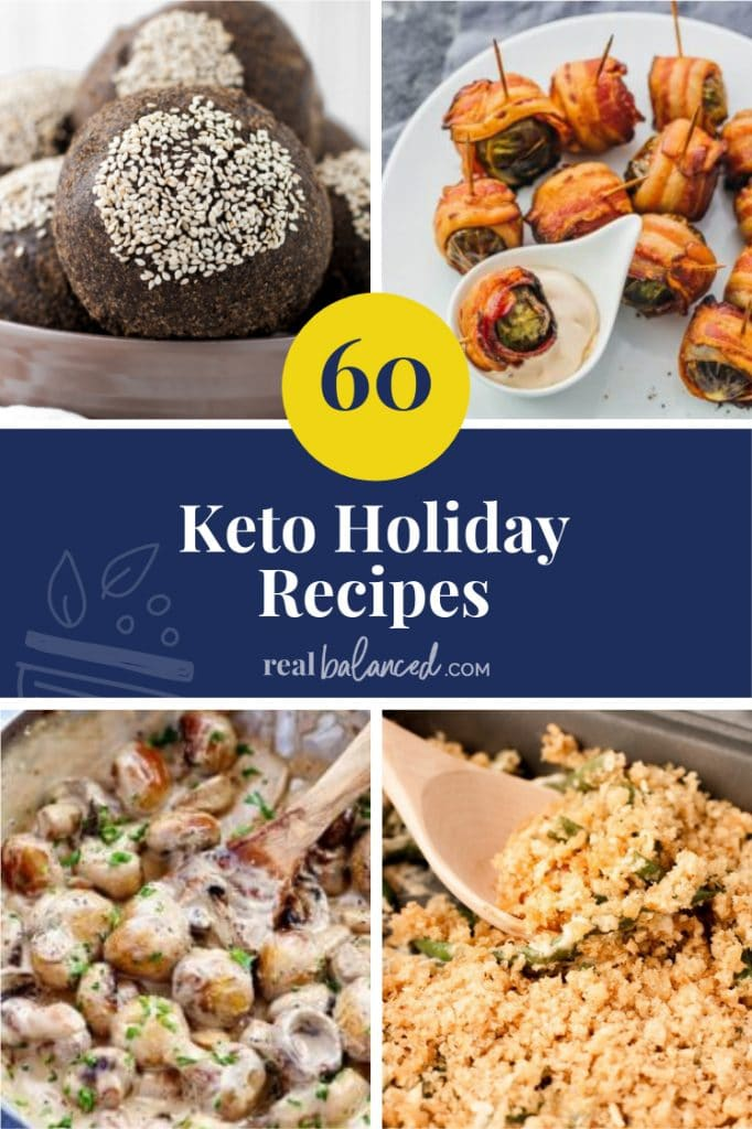 60 Keto Holiday Recipes pinterest image