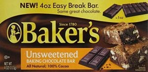 Baker's 100% Cacao Unsweetened Baking Chocolate Bar