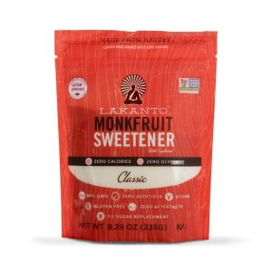 a bag of lakanto classic monk fruit sweetener