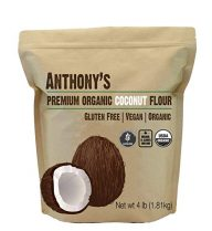 a bag of anthony's premium organic coconut flour