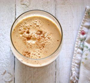 Cup of foamy Bulletproof Chai