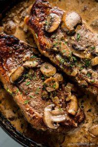 Keto Skillet Steak with Mushroom Sauce
