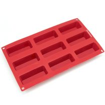Red Freshware Narrow Silicone Mold (9-cavity)