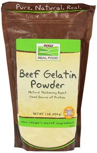 a bag of beef gelatin powder