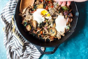 Low-Carb Smoky Pulled Prok Breakfast Hash