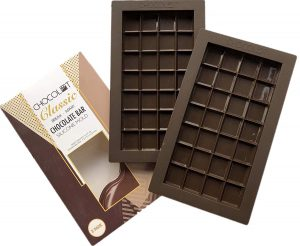 dark brown Silicone Chocolate Bar Mold (28-cavity square)