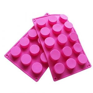 two pink Silicone Mold (15-cavity circle)