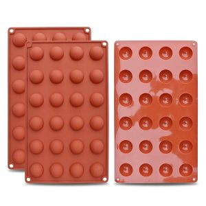 three brick coloredSilicone Mold Semishpere (24-cavity)