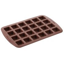 one brown Silicone mold (large 24-cavity square)