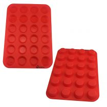 two red Silicone mold (small 24-cavity circle)
