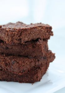 stacked cauliflower brownies