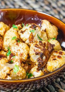 bowl of cauliflower poppers