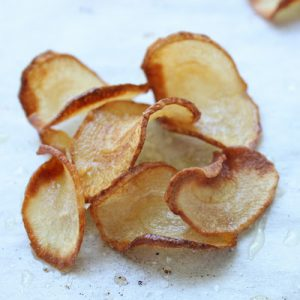 pile of salted parsnip chips