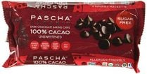 a bag of pascha unsweetened chocolate chips