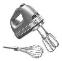 a silver electric mixer