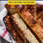 Keto Cheesy Breadsticks recipe pinterest image