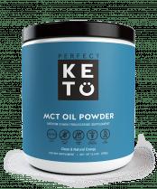 a jar of MCT oil powder