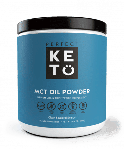 a jar of MCT oil powder